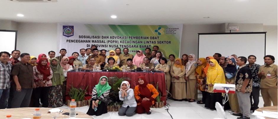 Sosialisasi dan Advokasi Pemberian Obat Pencegahan Massal (POPM) Kecacingan Lintas Sektor Tingkat Provinsi NTB