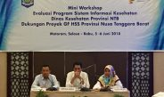 Pembukaan Acara Mini Workshop Evaluasi Program Sistem Informasi Kesehatan