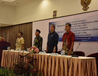 Pemulangan Peserta Program Internsip Dokter Indonesia (PIDI) Angkatan III Tahun 2017, dan Pembekalan Peserta Program Internsip Dokter Indoneisa (PIDI) Angktan III Tahun 2018