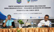 RAPAT KOORDINASI MONITORING DAN EVALUASI DANA DEKONSENTRASI / ANGGARAN KESEHATAN DI DAERAH TERMASUK DAK TAHUN 2019