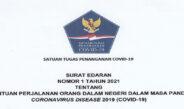 SURAT EDARAN COVID-19 TAHUN 2021